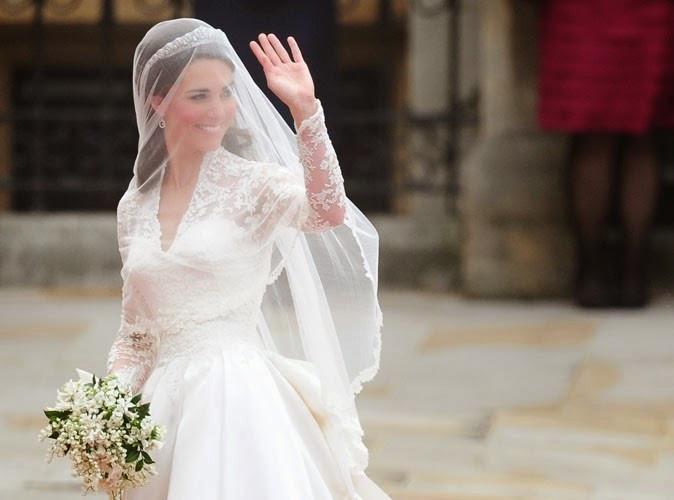 Kate Middleton et son bouquet de muguet pour son mariage du mois de mai