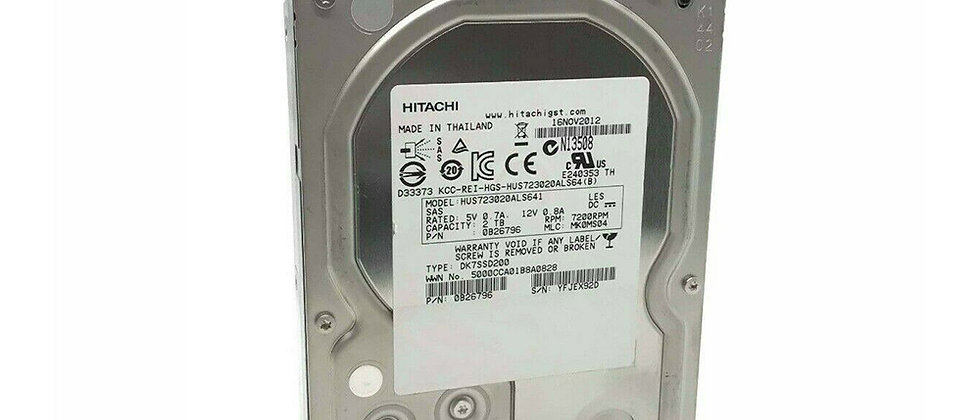 HITACHI 3 TB 7.2K SAS 3.5'' Bütün sunuculara uyumlu harddisk