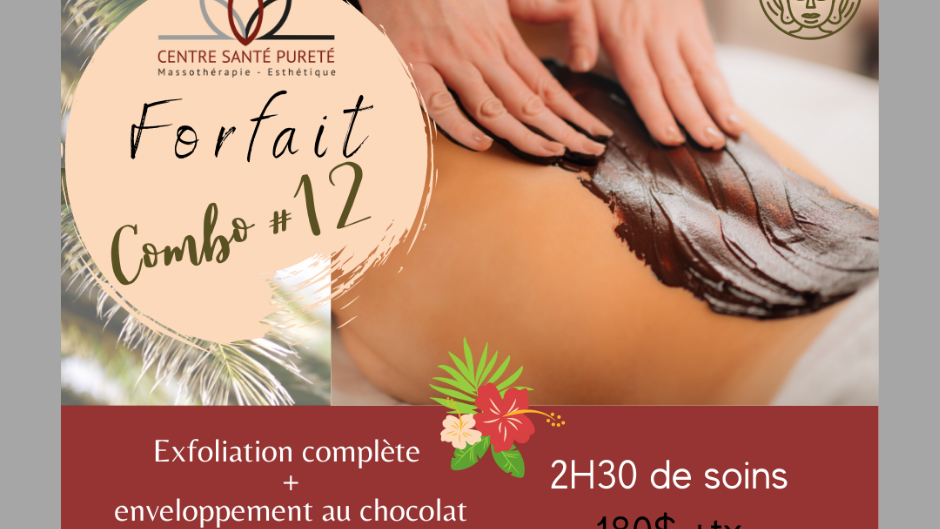 Exfoliation complète, Enveloppement au Chocolat et Massage de 60 minutes