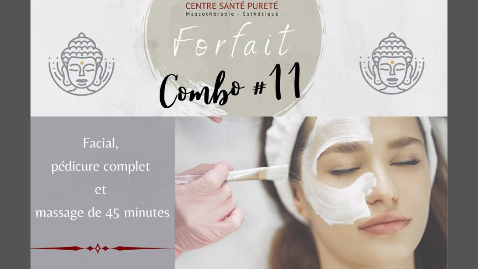 Facial, Pédicure Complète et Massage de 45 minutes