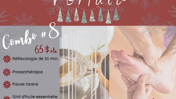 Réflexologie de 30 min, Pressothérapie, Pause Tisane, Huile Essentielle Menthe