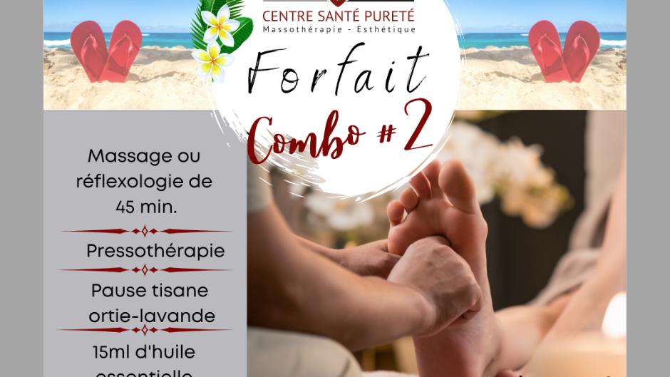 Massage ou Réflexologie-Pressothérapie et Lavande