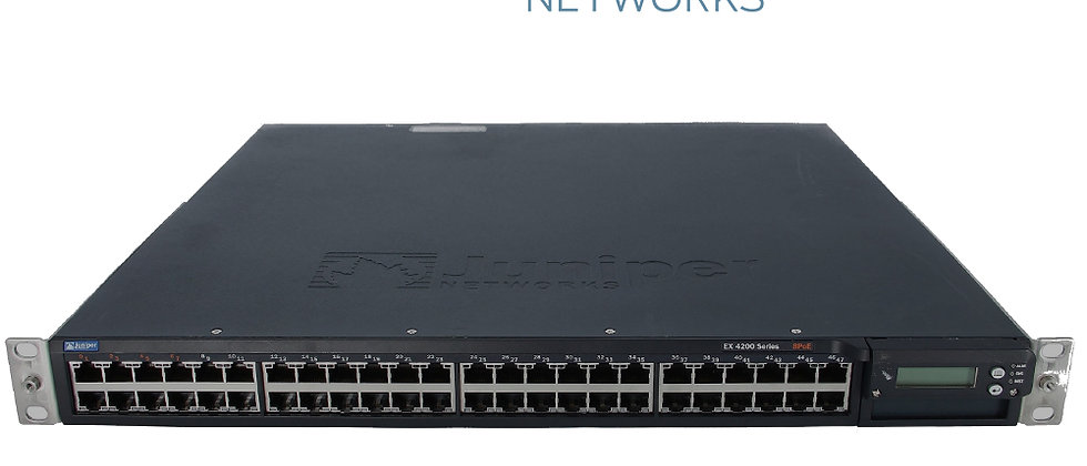 Juniper EX4200-48T EX4200 Series Ethernet Switch 8-PoE 48-Port