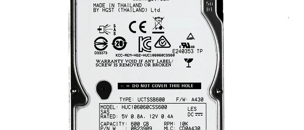 "HGST/HUC106060CSS600/600GB 10K RPM SAS 6Gb/s 2.5""/6HGSS/HDD"