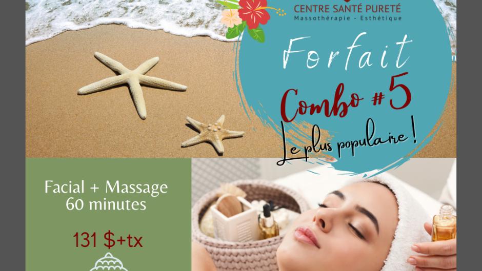 Facial Complet et Massage de 60 minutes