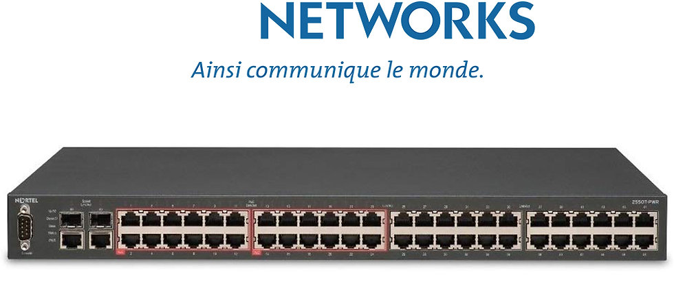 NORTEL 2550T-PWR 48 Port 10/100 / 24 Port PoE Switch