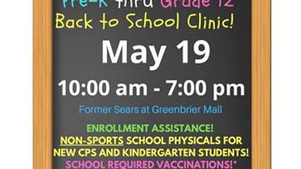Chesapeake Back to School Immunization Clinic