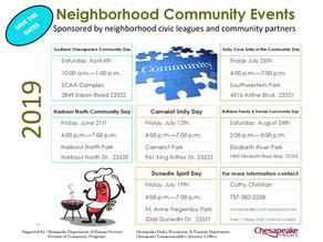 Summer Neighborhood Community Events