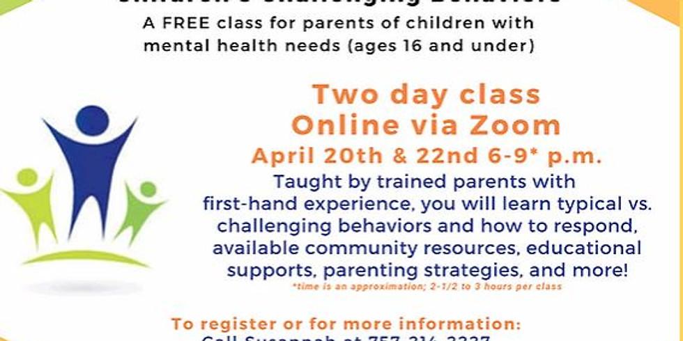 NAMI's Children's Challenging Behaviors
