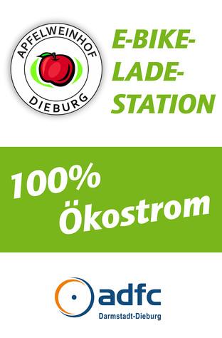 E-Bike-Fahrer tanken kostenlos bei Apfelweinhof Dieburg