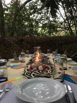 dining under the sacred tree