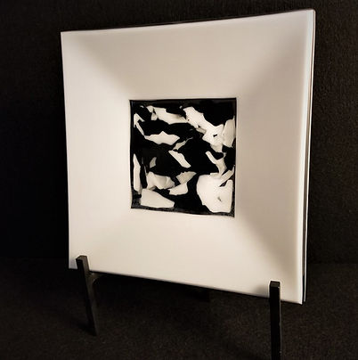 Black & White Study in Fused Glass