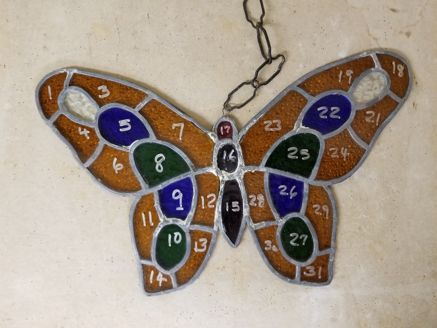 Original stained glass piece to be repaired