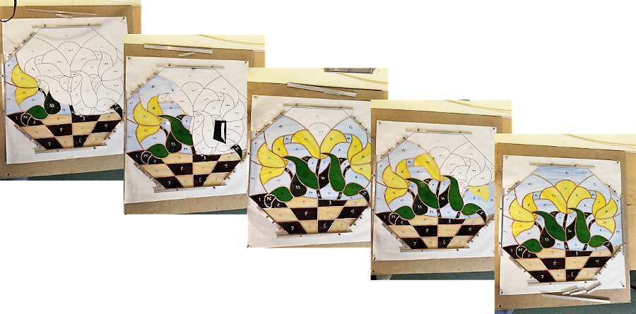 Stained Glass Panel Build Increments
