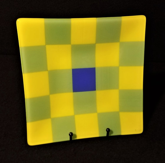 Yellow-Green Checkered Plate