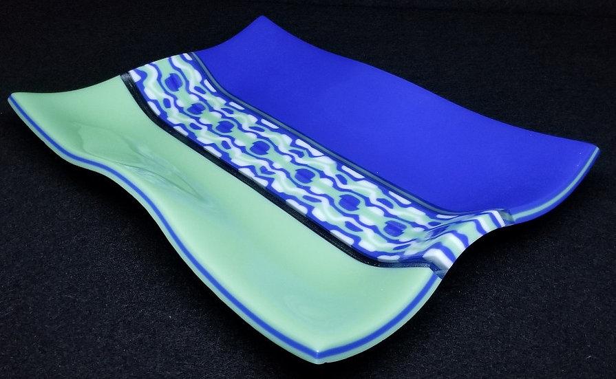 Blue & Green Florentine Platter