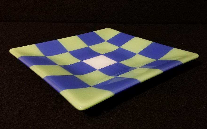 Blue-Green Checkered Plate