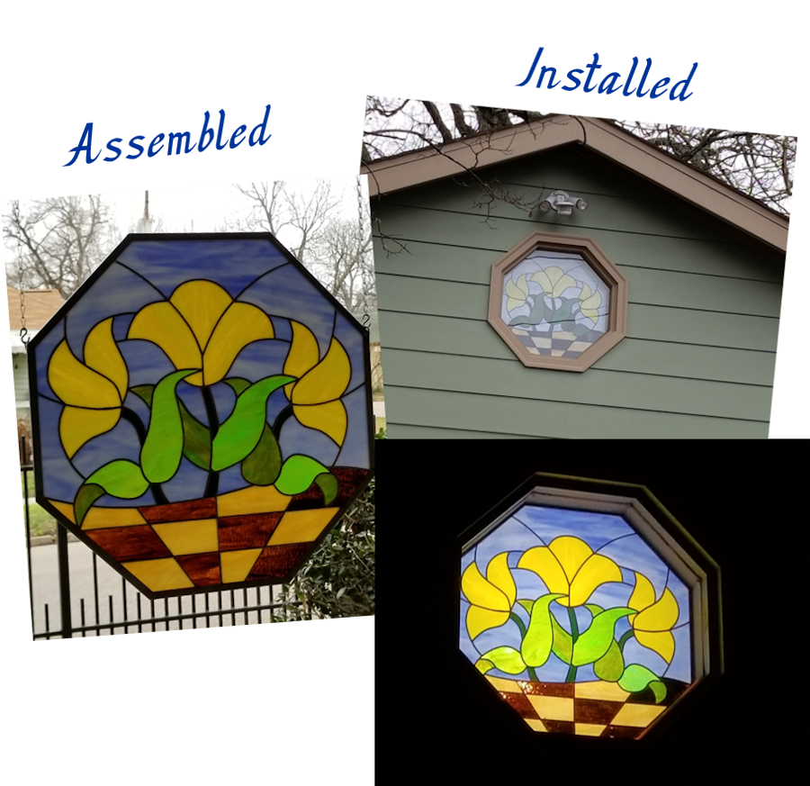 Installed Stained Glass Panel