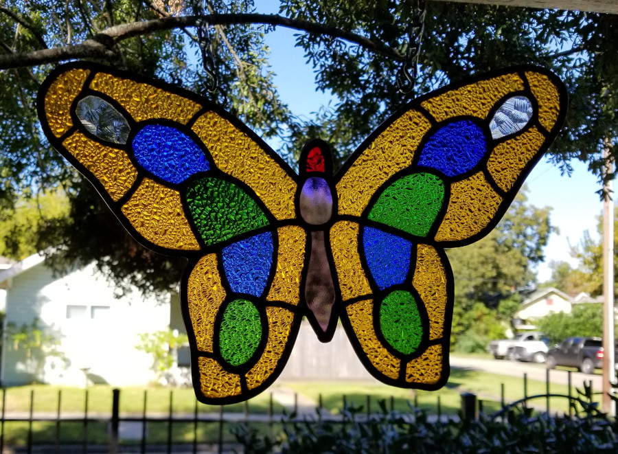 Completed stained glass repair