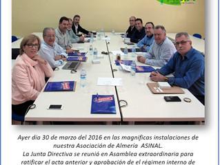 REUNIÓN JUNTA DIRECTIVA EN ALMERIA