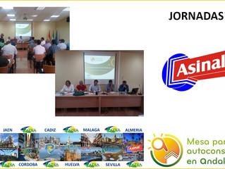 JORNADA #AutoconsumoAndalucía en ALMERIA cumpliendo el programa previsto en la roda de presentación