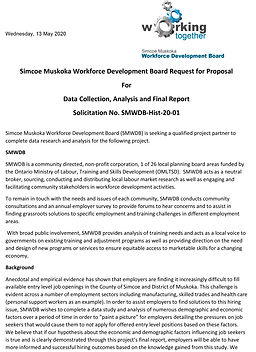 SMWDB RFP for Data Collection Analysis a