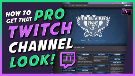 Customizing your Twitch channel