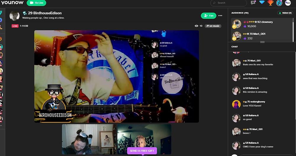 YouNow Live Music Platform