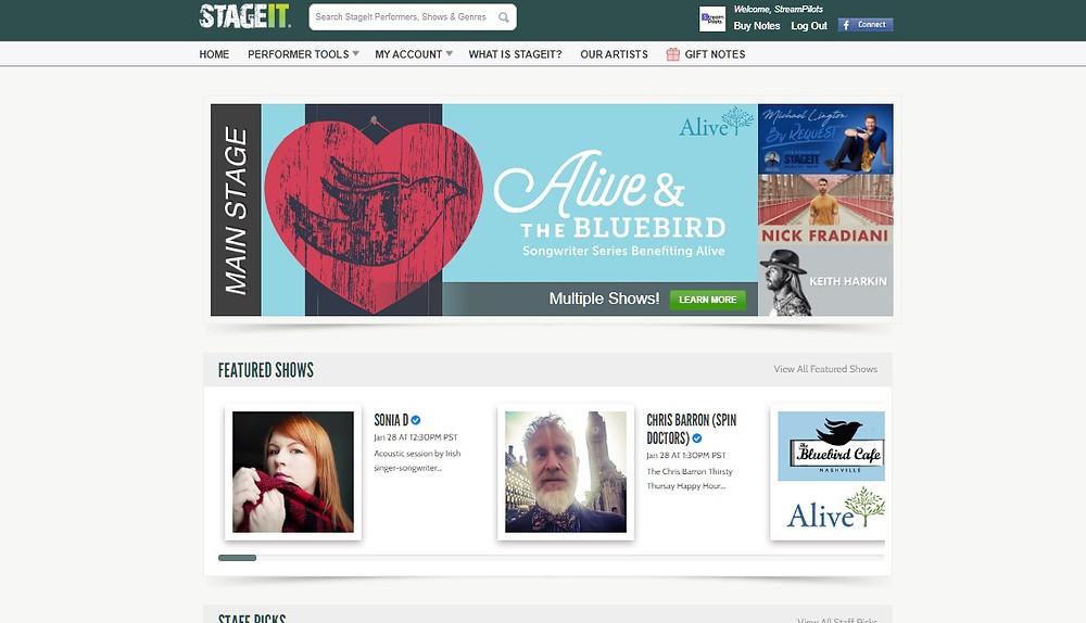 StageIt Live Music Platform