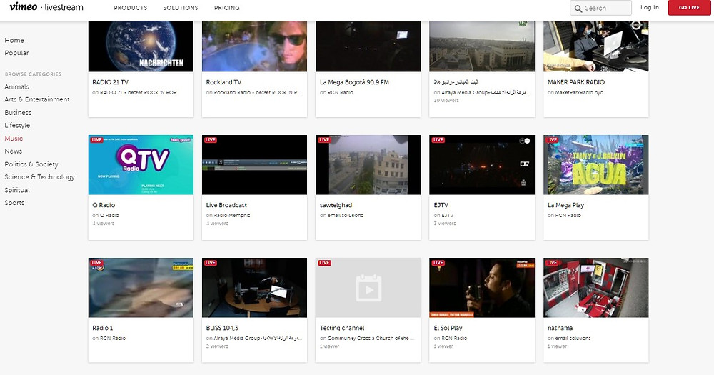 Vimeo Livestream Platform