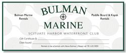 Bulman Marine Gift Certificate