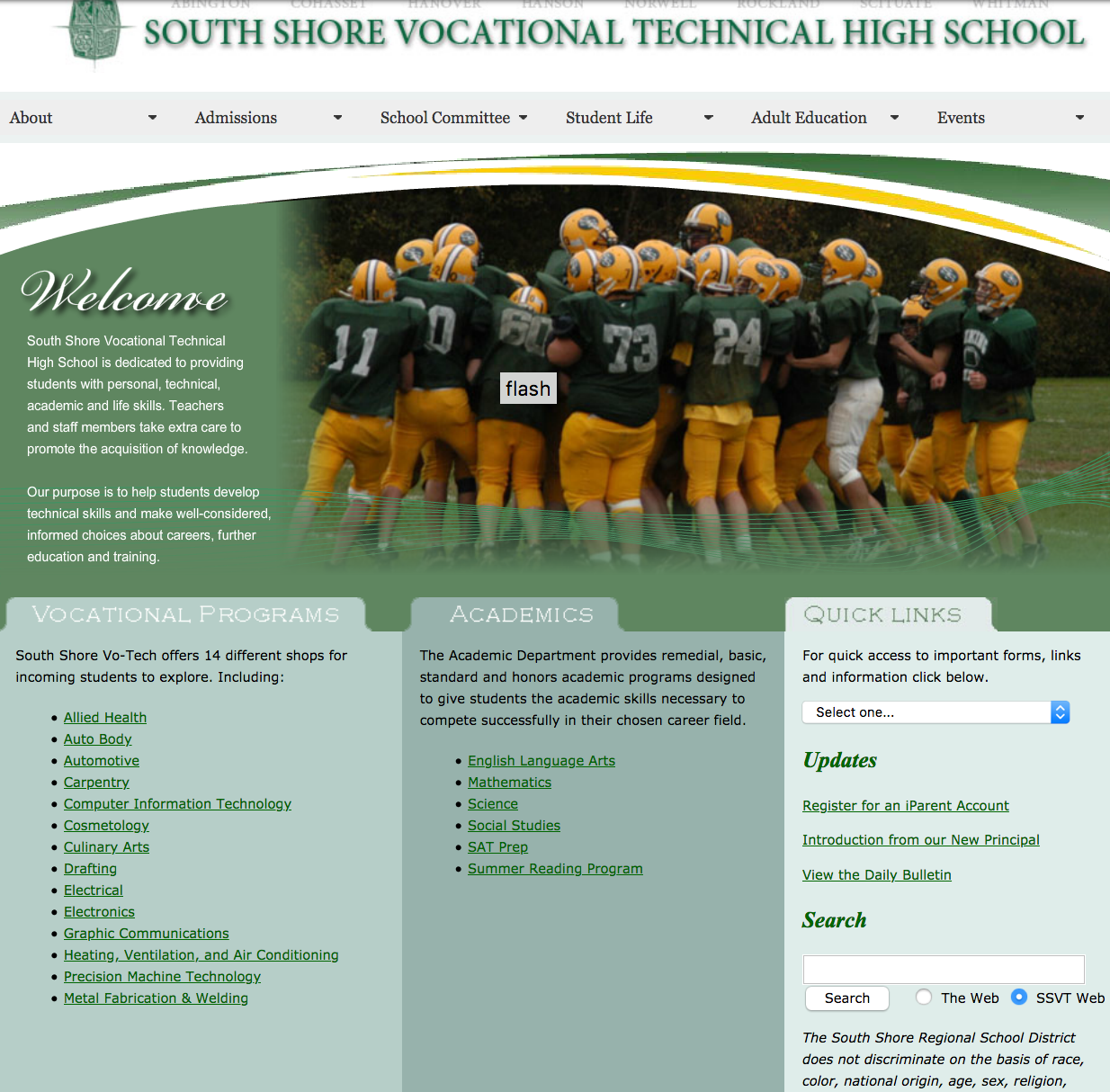 Website for SSTHS