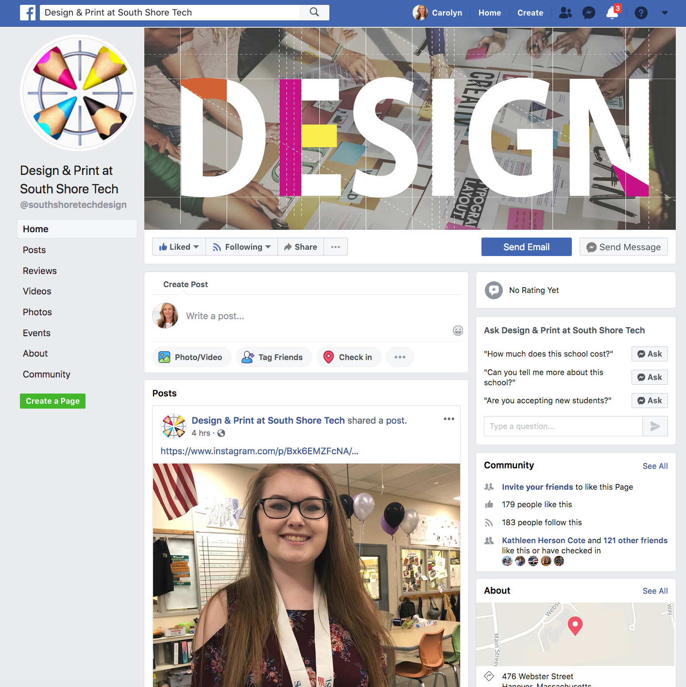Facebook for Design Program at SST