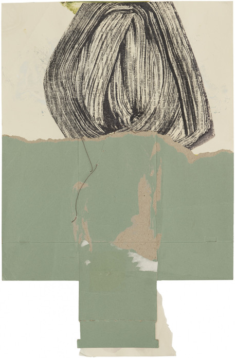 Untitled, 2020 acrylic and collage on paper 45 x 29,5 cm
