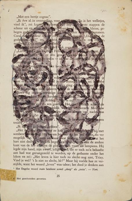 Het Geschonden Geweten, 2015 drawing on paper 22,2 x 14,4 cm
