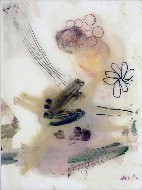 Butterfly Bush, 2019 oil and resin on canvas 80 x 60 cm