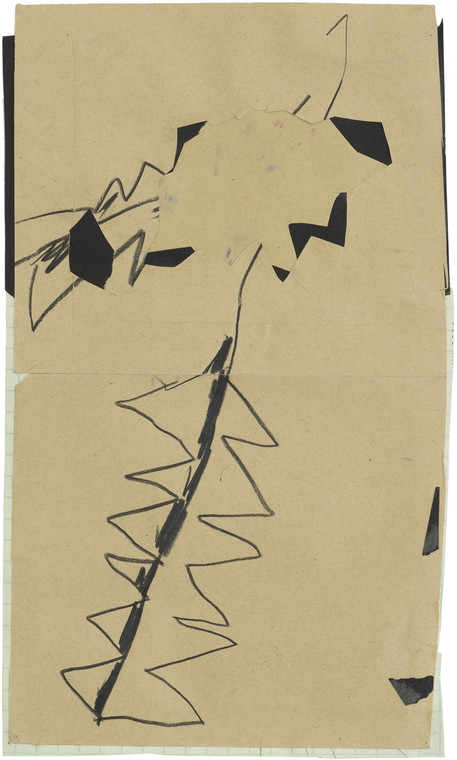 Untitled, 2020 mixed media on paper 32 x 19 cm