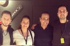 Junto a Pepe de Lucía, mi hermano Lucas Balbo y el percusionista Álvaro Mejido