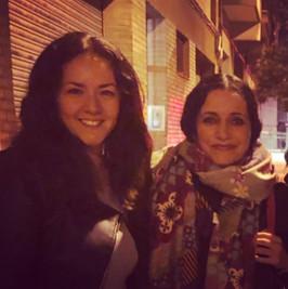 Con Eva Yerbabuena