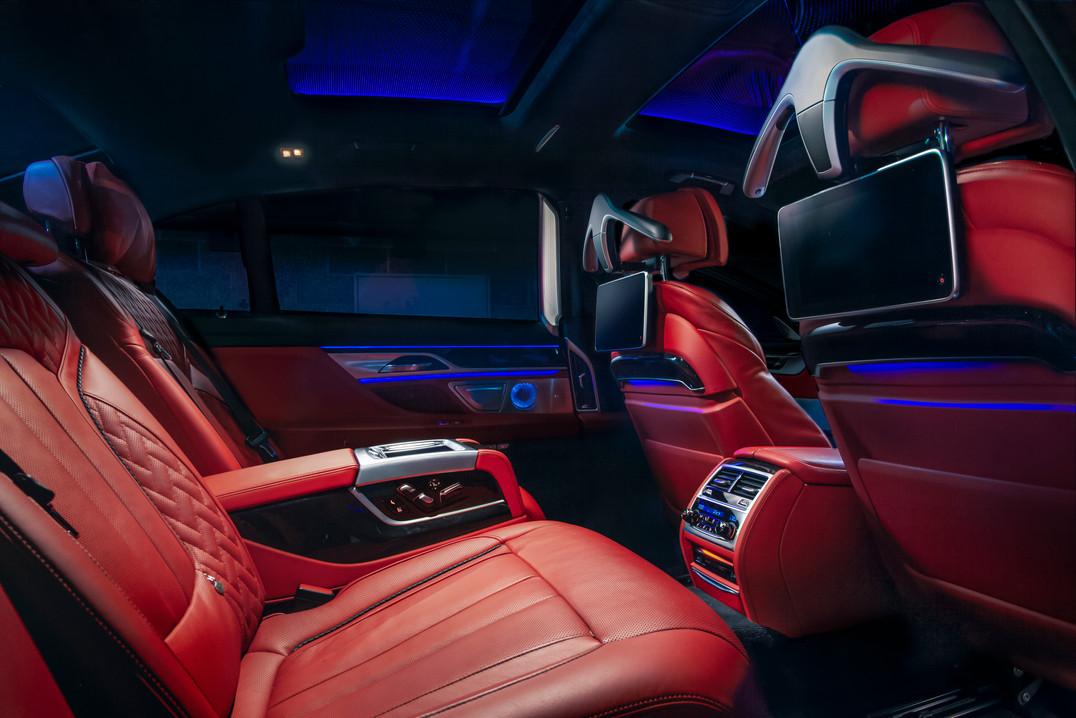 BMW M7 Backseat