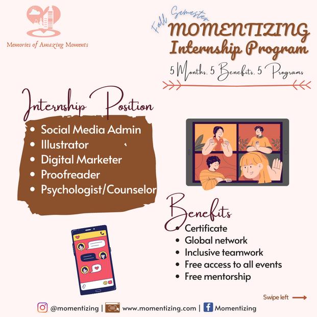 Momentizing Fall Intership Program 2021