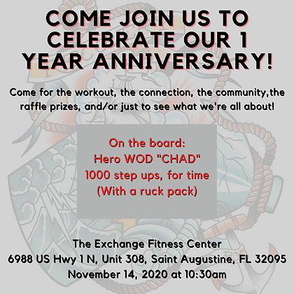 Come join us to celebrate our 1 year ann