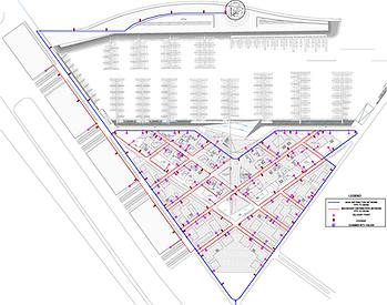 Water supply system layout: MRM Mina Rashid Marina project in Dubai