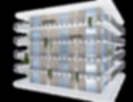 Residencial building rendering example