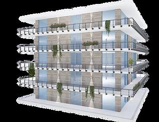 Elaborazione render edificio residenziale