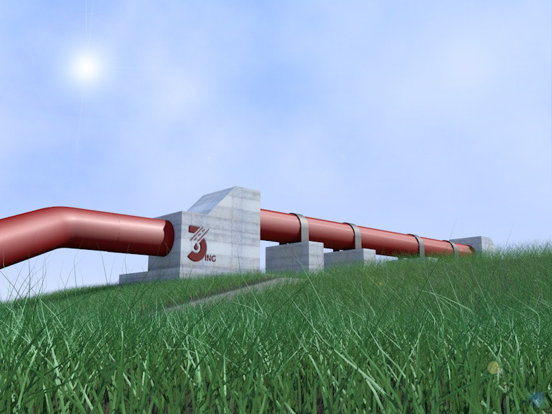 Rendering ponte tubo acquedotto