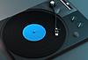 Vintage, black record player