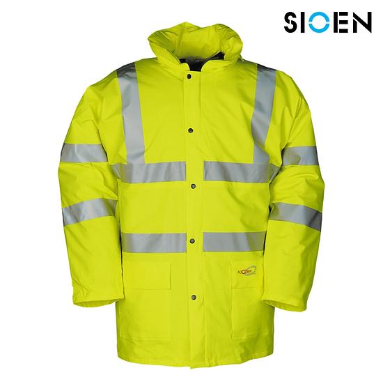 Sioen 7650 hi-vis winter rain jacket