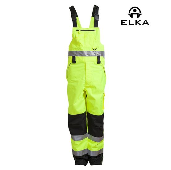 Elka 089900R hi-vis bib & brace trousers