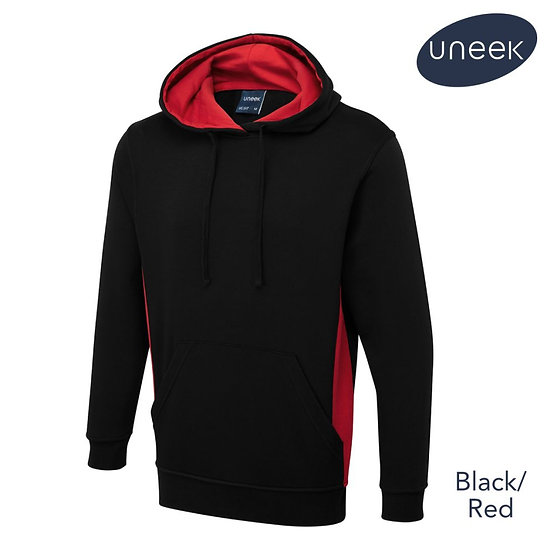 Uneek UC517 Two-Tone hooded sweatshirt